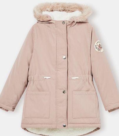 Sprzedam  nowa kurtke parka plaszczyk zimowy roz140 dla dziewczynki