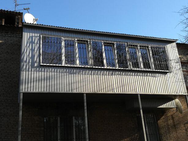 Балкон под ключ, Окна, Двери, Шкаф на балкон, Ремонт Окон,Решетки