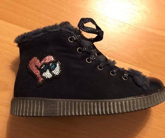 Buty lekko ocieplane 32, nowe botki Nelli Blu dla dziewczynki