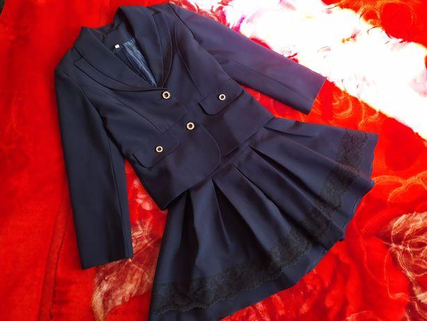 Школьная форма пиджак +юбка