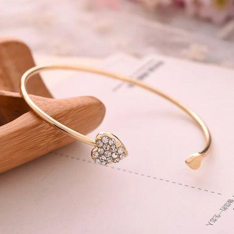 Nowa bransoletka złota kryształki serce !