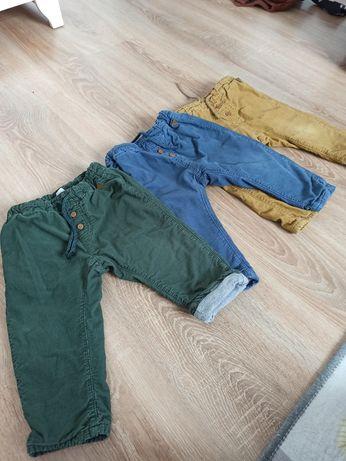 Spodnie sztruksowe z podszewką rozm 80 H&M