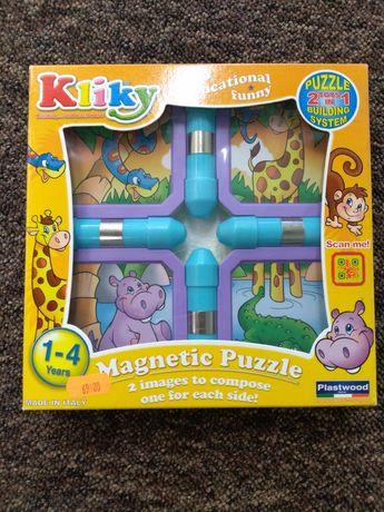 Nowe. Kliky, puzzle magnetyczne, Zwierzęta