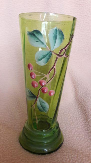 Wazonik/szklanka art deco szkło kolorowe