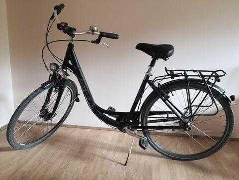 Czarny rower miejski Pegasus