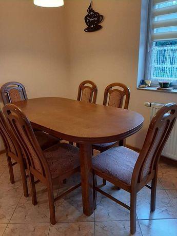 Stół drewniany +6 krzeseł