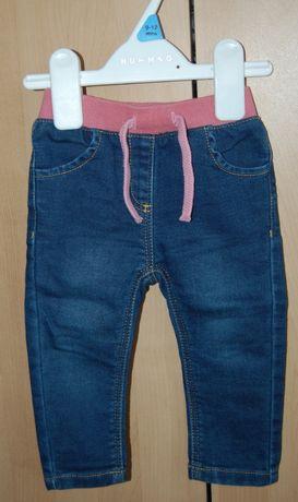 Jeansy, spodnie, spodenki na gumce, dla dziewczynki, 6-9mies. PRIMARK