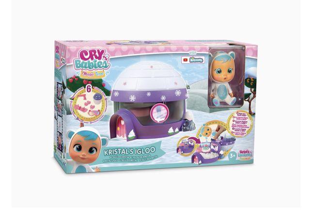 Кукла Cry babies с домиком иглу  край беби с искусственным снегом