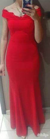 Zjawiskowa czerwona suknia syrenka