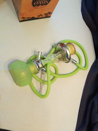 Shisha/fajka wodna Oasis, zielony neon, dwa węże