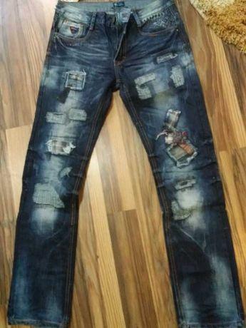 Spodnie męskie jeansowe niebieskie rozmiar 32