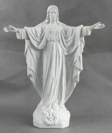 Figura JEZUS - SERCE JEZUSA biskwit 38cm porcelana