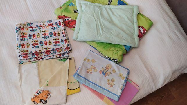 Постель детская, одеяло, подушка