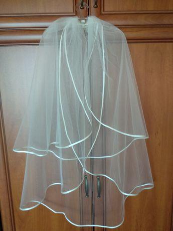 Welon ślubny, wianek, buty, rękawiczki - zestaw