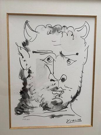 Pablo Picasso Litografia Twarz Fauna