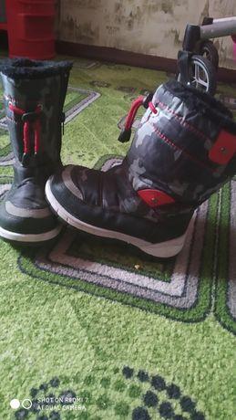 Зимние ботинки ,дутики 16 см стелька 26 р