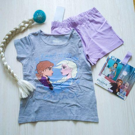 Літній костюм крижане серце. літня піжама для дівчинки 1-2 роки