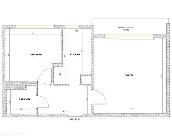 Dwupokojowe mieszkanie 46m2 Bemowo