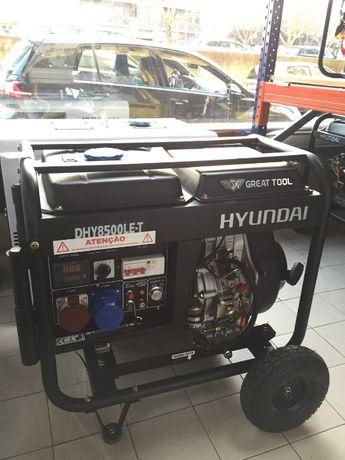 Gerador Diesel 7,5 kVA Hyundai GTDHY8500LEK-T