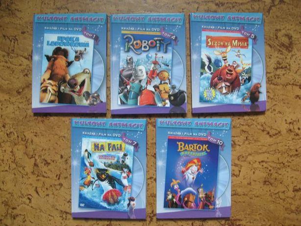 zestaw film DVD-5 szt: EPOKA lodowcowa,ROBOTY,SEZON na misia, NA FALi.