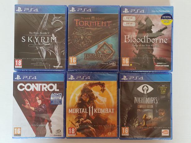 Bloodborne, Skyrim, Icewind dale, Mortal Kombat, Control, Little Night