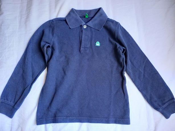 Bluzka polo z długim rękawem Benetton