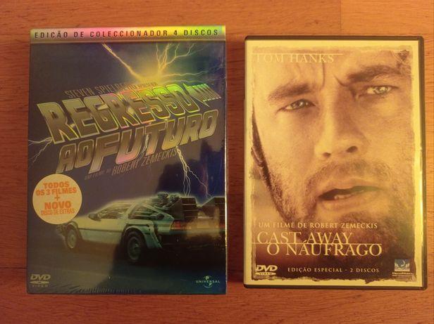 Robert Zemekis Regresso ao Futuro Trilogia 4 dvds e O Naufrágo 2 dvds