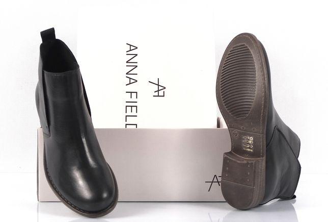 Anna Field LEATHER BOOTIES Ankle boot Nowe Botki Damskie Skórzane 37