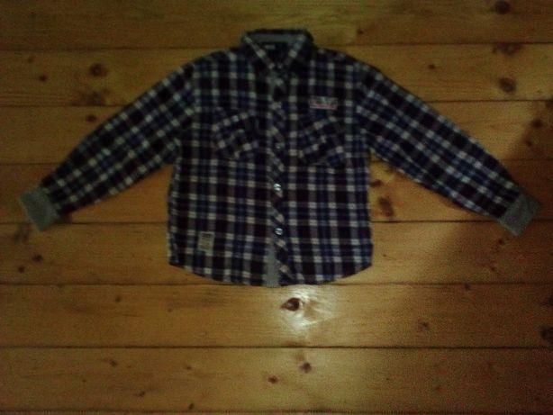 Koszula flanelowa w kratę chłopięca roz. 10-12 lat