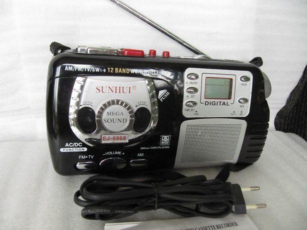 Мини магнитола EJ-8866 с 12 диапазонным приемником и записью, новая