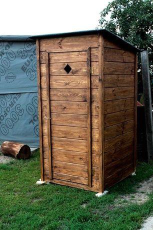 Wychodek toaleta szalet wc drewniana solidna impregnowana