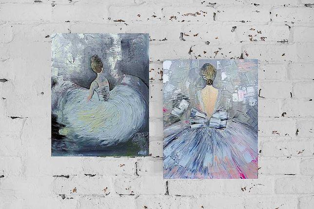 Диптих «Балерини», олія, 40х50