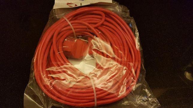 Extensão Eléctrica 3x1,0 mm c/ 25 metros, vermelha, tomadas schuko