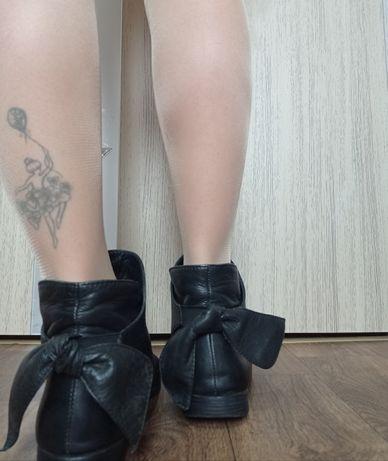Ботинки женские, кожа