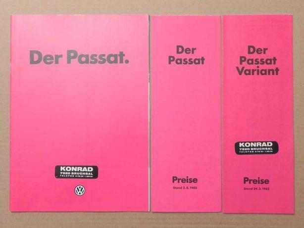 Prospekty - VOLKSWAGEN VW PASSAT B2 + CENNIKI - 1982 rok
