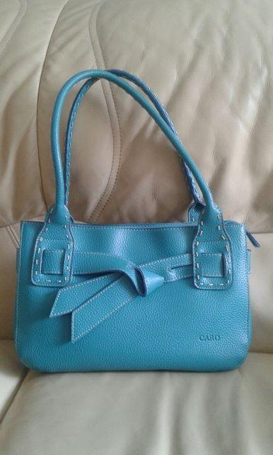 Turkusowa, niebieska torebka. Stan idealny