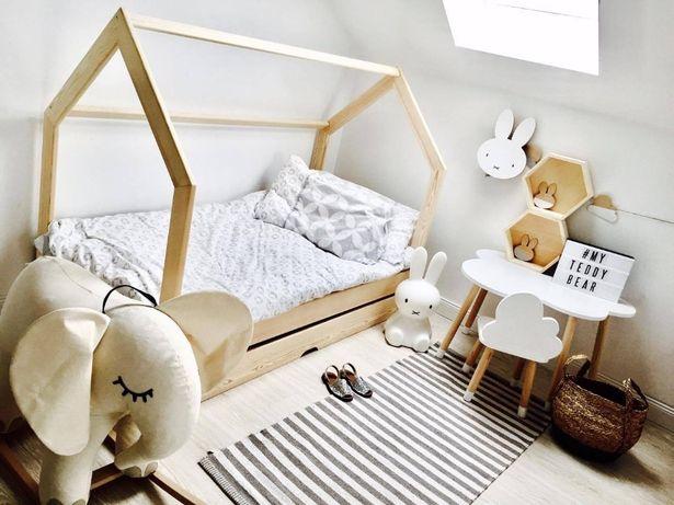 Łóżko łóżeczko domek szuflada lub drugie łóżko barierki, kolory