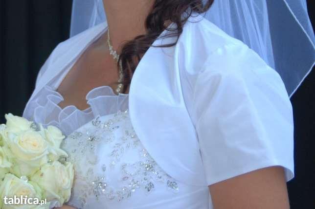 bolerko białe ślubne r38