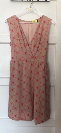 Vestido rosa forrado com bolsos - tamanho 38
