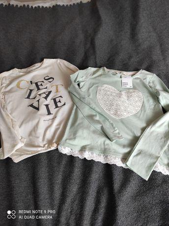 Bluzeczka H&M i tom tailor 134 -140