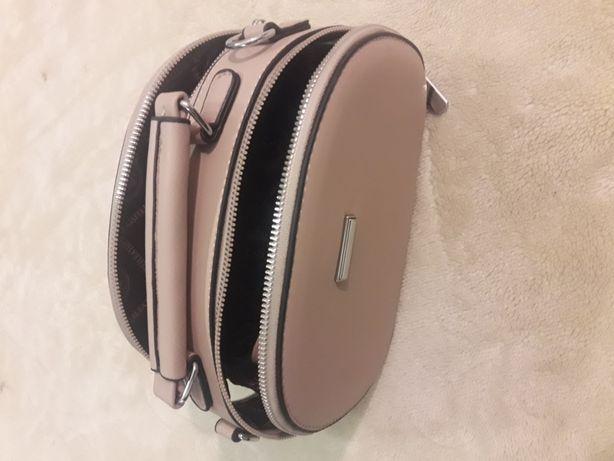 torebka pudrowy roz