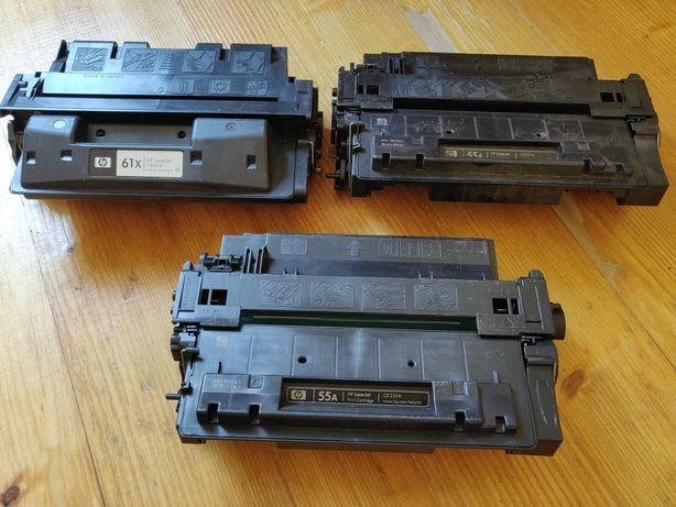 Три картриджа лазерного принтера ( 2шт HP LaserJet 55A + 1шт HP 62X)