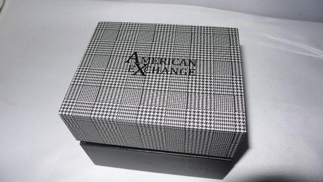 Zegarek na pasku American Exchange 3paski kartonik