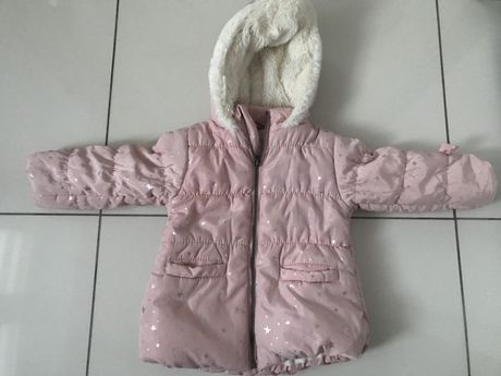 Kurtka dziewczęca zimowa różowa rozmiar 80