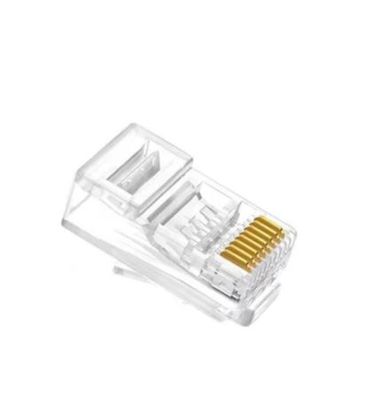 10 Fichas conector Rj45 Cat6 Macho para ethernet/UTP