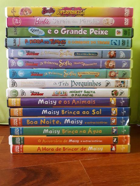 10 DVDs Infantis