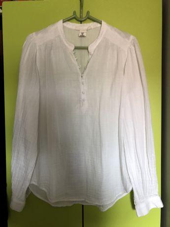 Piękna, elegancka bluzeczka H&M biala