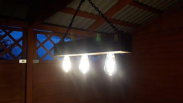 Lampa dekoracyjna ze starej belki Loft Vintege Retro Łańcuch