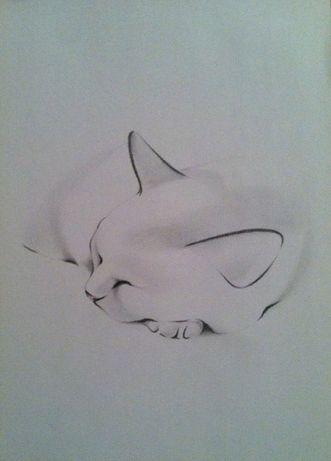 "Картина ""Спящий кот"""
