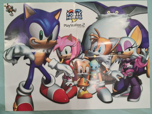 Poster Sonic Heroes ou Onimusha 3 - PlayStation 2